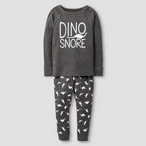 Toddler Boys' 100% Organic Cotton Pajama Set Dinosaur - Cat & Jack™ : Target