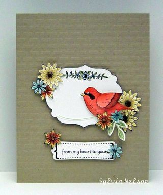 Stampin Up Language of Friendship and bird punch