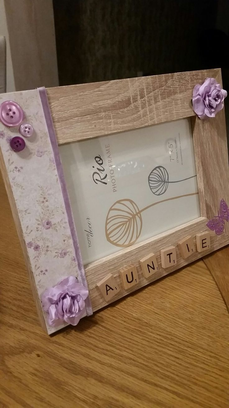 Auntie photo frame fb page crafty creations and sweet sensations