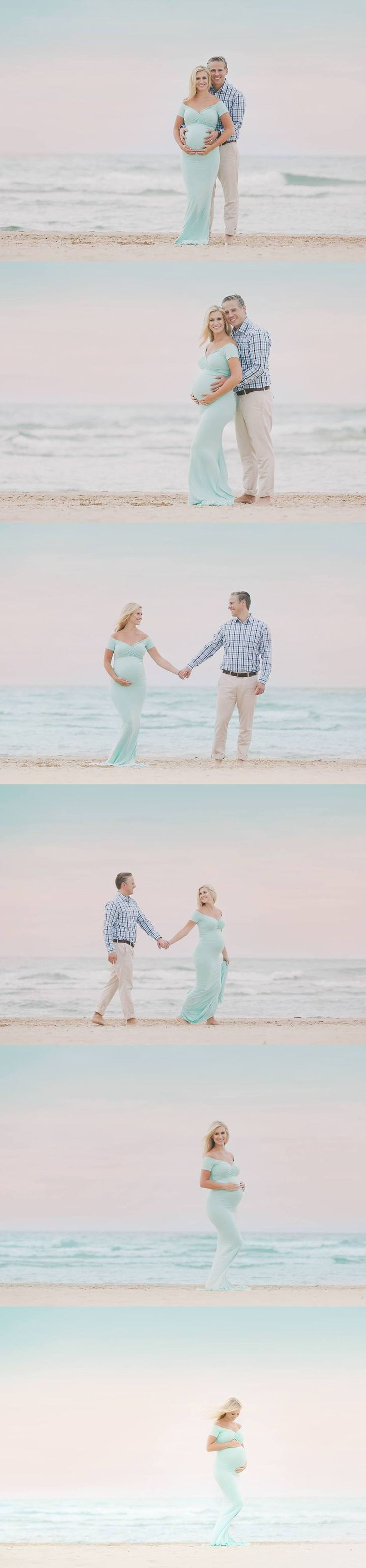 Maternity photos. Love the dress