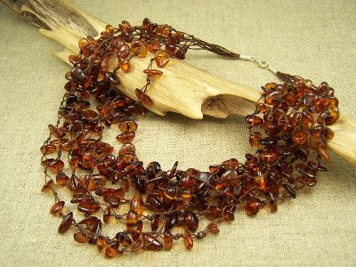 Genuine amber beads necklace - cognac colour. www.jewelinthecrowd.co.uk