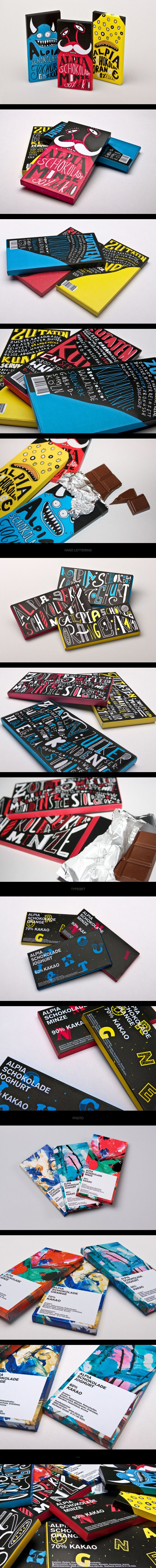 Alpia Chocolate by Tobias Saul. Who wouldn't like this cute chocolate #packaging PD