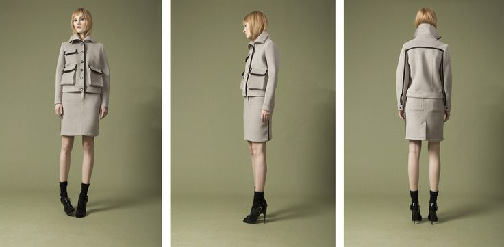 terry track jacket , high rise skirt