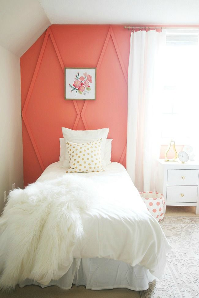 Before and After Coral Bedroom | Bedroom makeover before ...