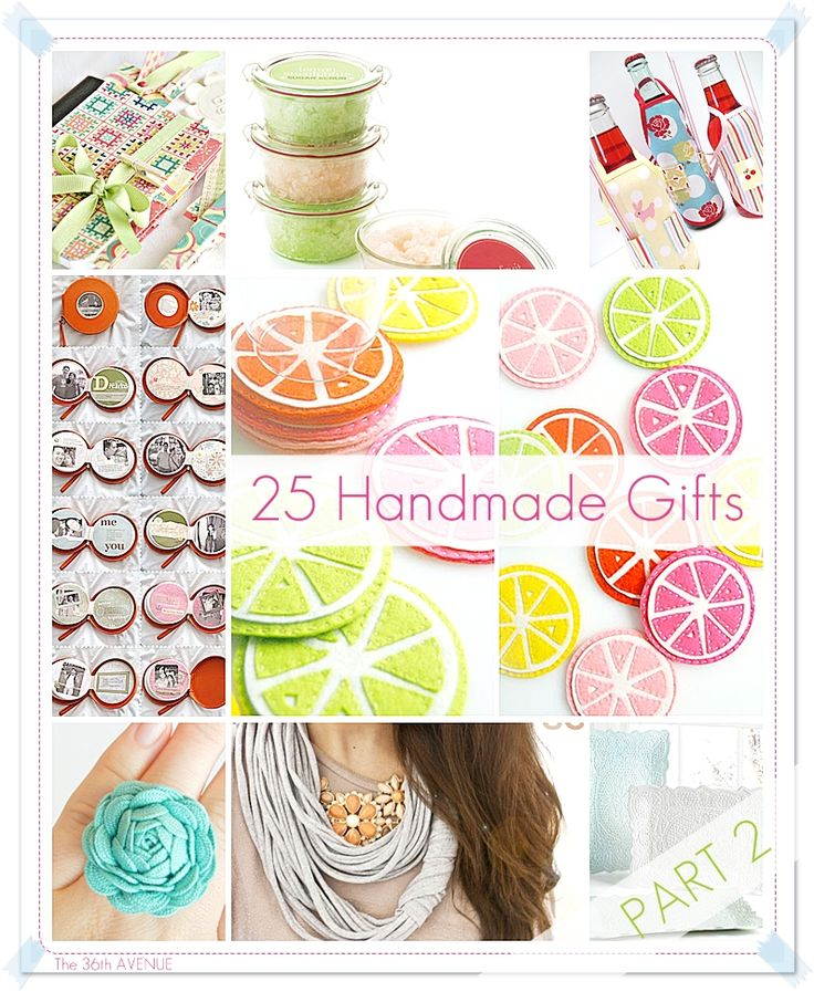 This time spring-themed or Mother's Day gifts: 25 DIY Handmade Gift Tutorials Part 2 | The 36th AVENUE