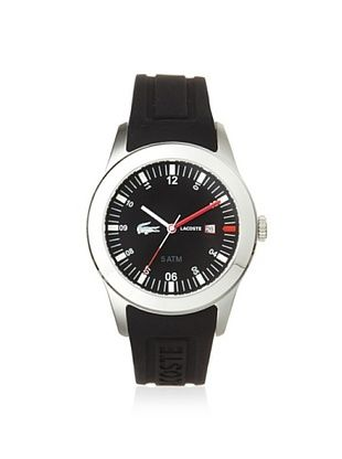 Lacoste Men's 2010628 Advantage Black Silicone Watch