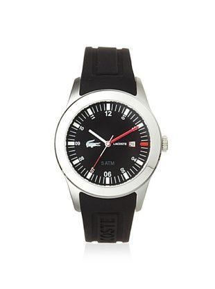 Lacoste Men's 2010628 Advantage Black Silicone Watch