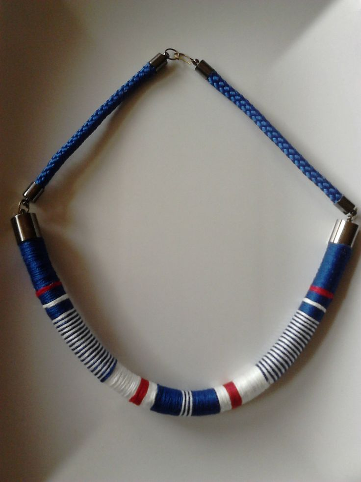 African (tribal) style necklace, handmade wrapped,colorful,rope necklace, summer necklace, jewellery, tube necklace, by machama on Etsy