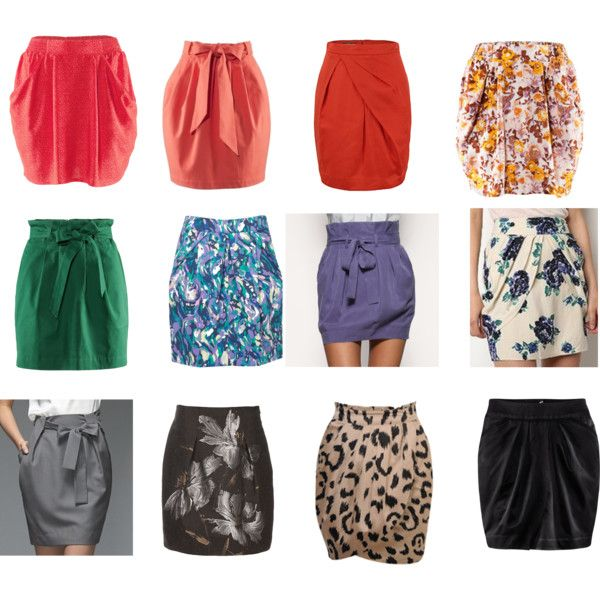 I LOVE that you can wear Tulip Shaped Skirts. How cute are these?