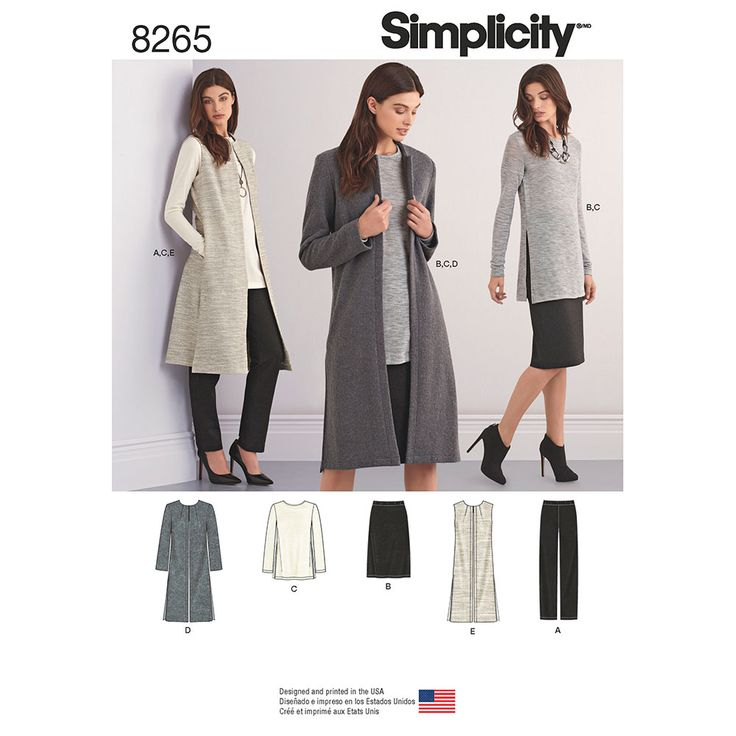 Misses and Miss Petite Separates Simplicity Sewing Pattern 8265.