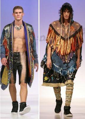 Ropa, moda y color de estilo medieval, invierno 2012 diseño, tendencia Bandoleiro para ellos y ellas.