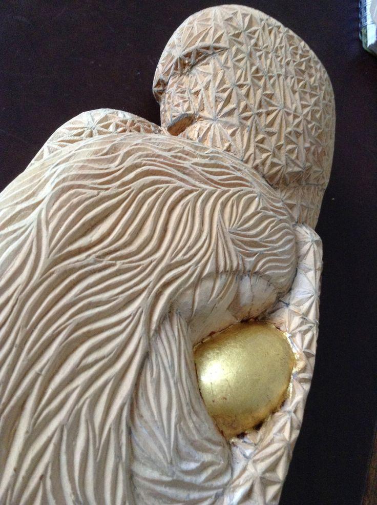 SACRAFAMILIA scultura e intaglio in profumatissimo legno di cirmolo