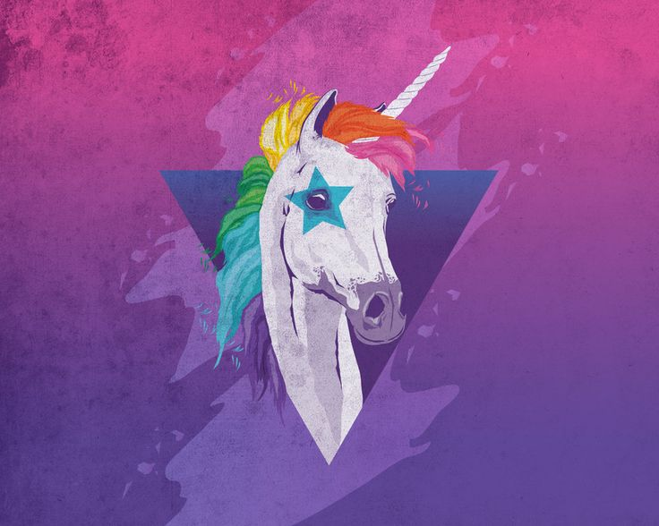 this unicorn kind of reminds me of David Bowie