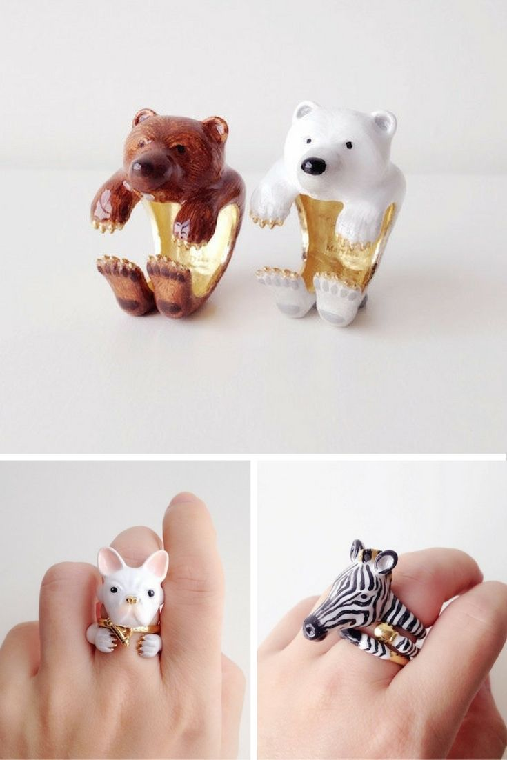If you're going to wear any piece of jewellery, make it an animal ring from MaryLouBangkok.  Why? Because they're cute as hell and wrap snugly around your fingers to give you a perfect fit whichever you wear.