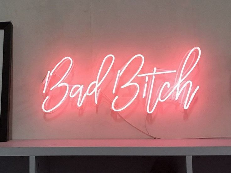 Bad Bitch Neon sign. Available in 9 colours and measuring 56cm x 23cm