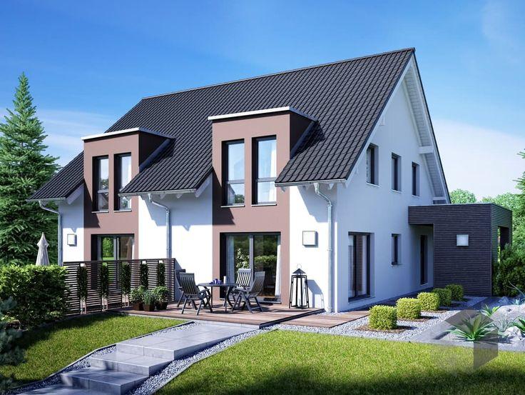 die besten 25 zweifamilienhaus ideen auf pinterest duplex haus design doppelhauspl ne und. Black Bedroom Furniture Sets. Home Design Ideas