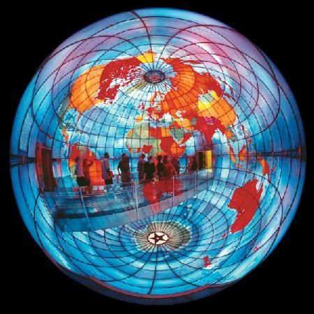 A world-famous, three-story, stained-glass globe in the heart fo Boston!