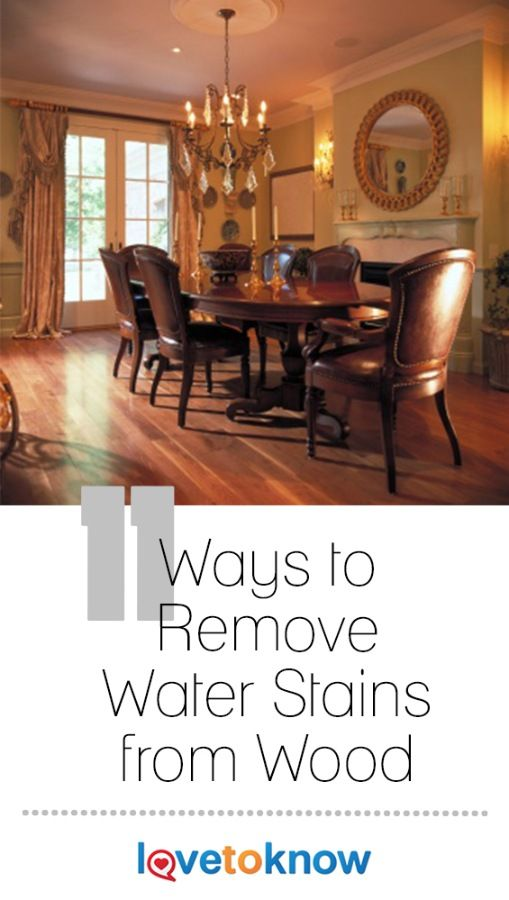 If you've ever had a beautiful piece of wood furniture damaged with a wet glass, you will be happy to learn some techniques that will remove water stain from wood. There are actually several ways accomplish this. What a relief to know that your wood furniture isn't ruined; it just needs a little elbow grease and know-how. #SpringCleaning