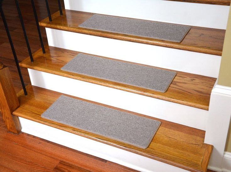 Best No Slip Treads For Stairs Ideas Awesome Stair Design With Brown Wooden Tread Covers