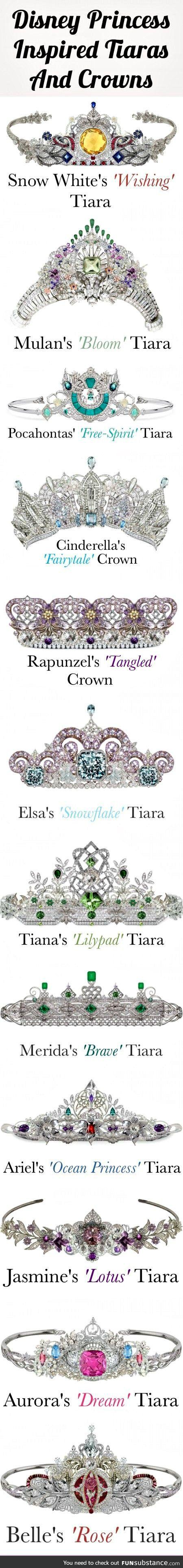 Disney-inspired tiaras