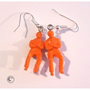 "BO ""Cinderblock together"" orange  Carolune bijoux Design et contemporains  www.carolune.com"