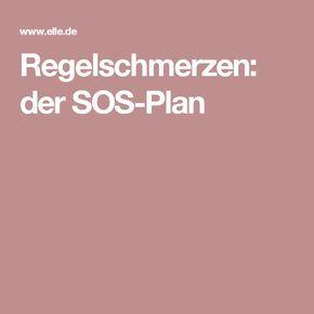 Regelschmerzen: der SOS-Plan