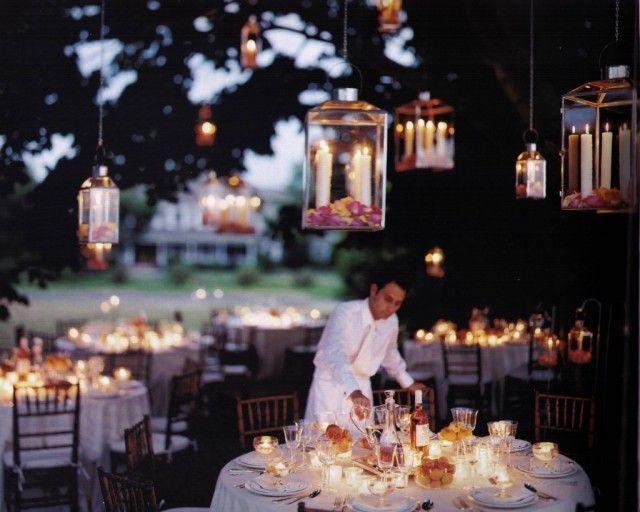 Wat romantisch! Hangende lantaarns