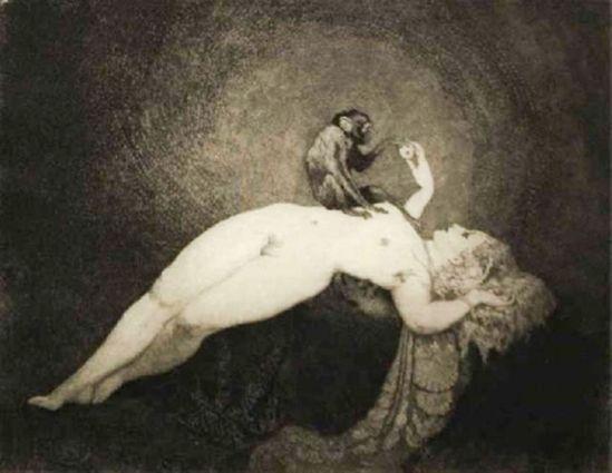 Norman Lindsay. Julia's monkey 1920