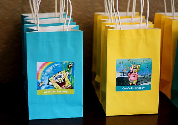 These labels are a great way to customize your kids birthday party goody bags! This listing is for LABELS ONLY. Bags are not included but can be