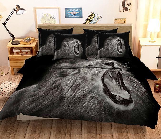 3D Funny Lion 73 Bed Pillowcases Quilt   AJ Wallpaper