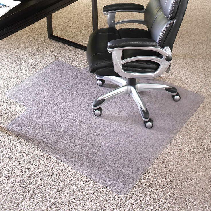 Es robbins chair mat for high pile carpet 45 x 53 with