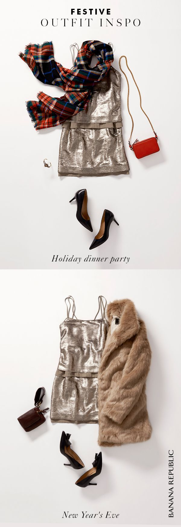 'Tis the season for chock-full social calendars—a dinner party or three, office celebration, family gatherings, New Year's Eve. This silver sequin dress was meant for every occasion on your list. Throw it on with a scarf, evening bag & heels for an indoor event, or head out on the town wearing this flirty frock with a faux fur coat, pumps and a chic clutch.