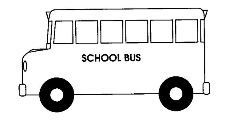 Back To School Bus Coloring Page Clipart