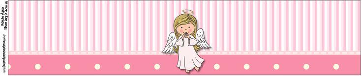 Rótulo Água Batizado para meninas anjinha: