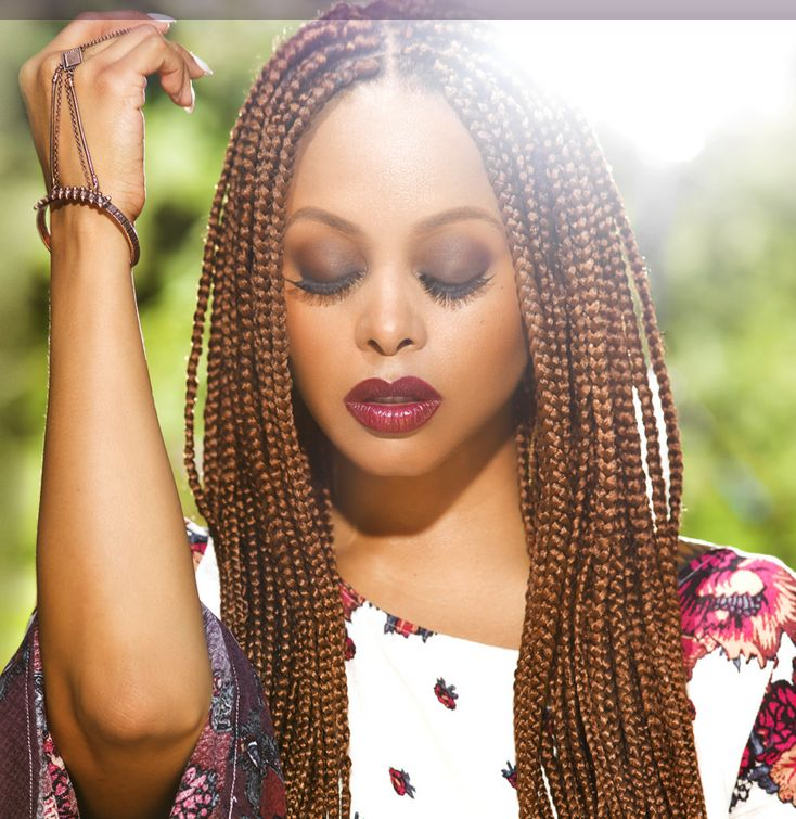 Colourful small box braids hair extensions