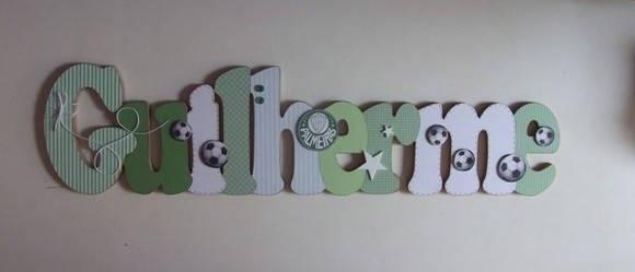 Nome em MDF decorado em scrap.  Pode ser utilizado em porta de maternidade, em quarto infantil, para decoração de festas, batizados, chá de bebê.  Fazemos nas cores e temas desejados. Consulte. R$ 100,00