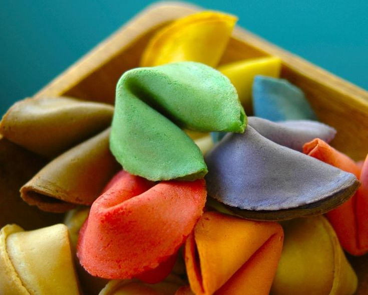 Rainbow fortune cookies - a great party favor!