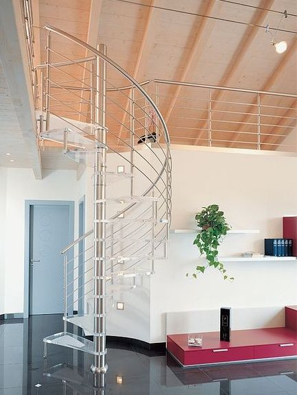Acrylic Spiral Staircase - Very Contemporary