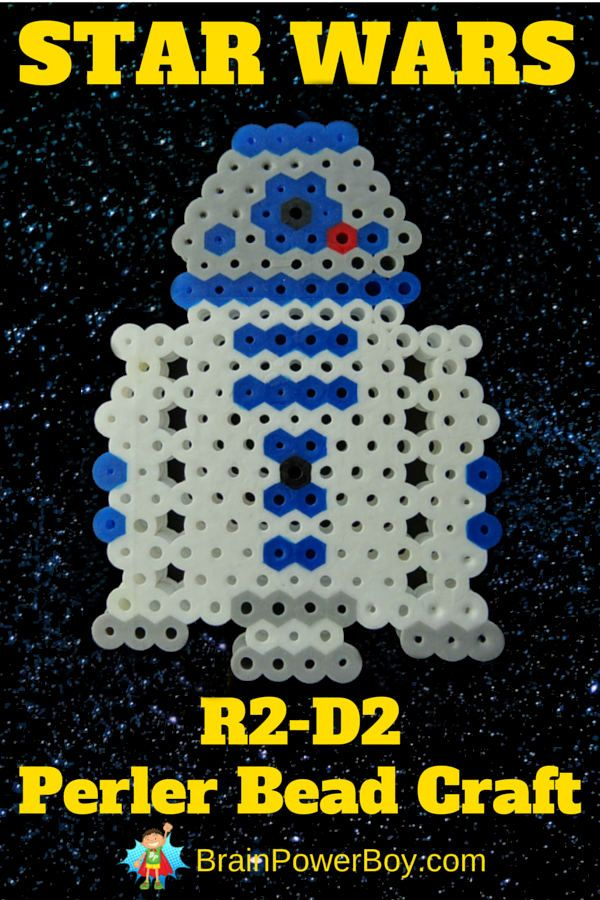 Make a perler bead R2-D2! A great Star Wars craft idea to make for Star Wars Day or any day.