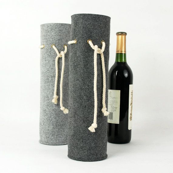 Felt Wine Tote Wine Holder Gift Wine Carrying Bag door Filzkraft, $18.00