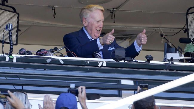 You Know Before Vin started Announcing Dodger Games, He was A GIANTS FAN??? Well he grew up in a building overlooking the Old Polo Grounds. But The Dodgers STILL Made The Smart Hire!!! Thank You Vin.....For EVERYTHING!!! #WinForVin #67Years #Dodgers #GOAT #Icon