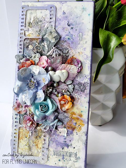 Mixed media canvas with video tutorial by Ayeeda