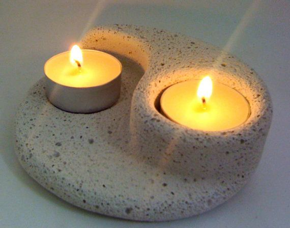 TeaLight Holder or Citronella candles in YinYang Design carved from Hebel now on Etsy. Lovely gift.