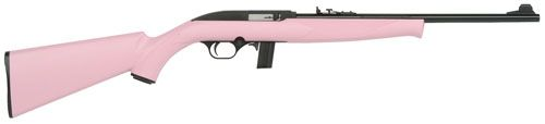 "Helotes Tactical Firearms | Mossberg 702 Semi-Automatic 22 Long Rifle 18"" Pink Synthetic Blue 37039"