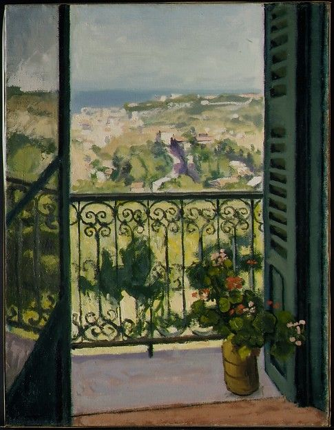 Albert Marquet (1875-1947) - View from a Balcony (1945)
