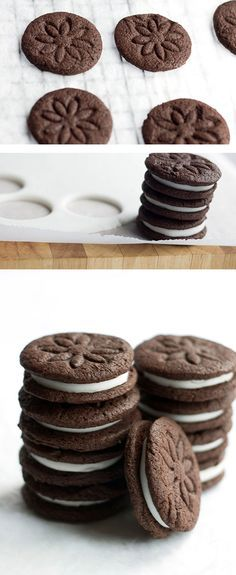 Homemade Oreo Cookies!  Yummy, it's always fun to learn to make a popular packaged item at home!