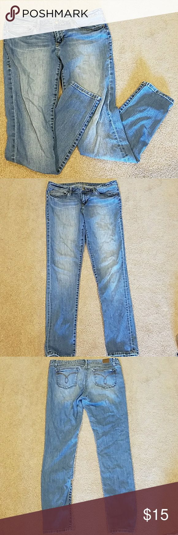 American Rag Jeans American Rag light-wash jeans, size 13 regular length. Lightly used, good condition! Very small area of loose thread on the back pocket, but otherwise in tip-top shape! American Rag Jeans Straight Leg