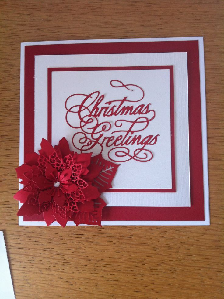 Nice Lace Card Making Ideas Part - 12: Tattered Lace Xmas Card