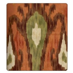 Fabric Ikat Cinnamon 54