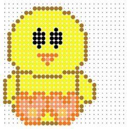 cute chick perler bead pattern